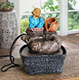 Best Gifts & Decor Garden Decors - TIED RIBBONS Table Top Buddha Monk Water fountain Review