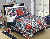 Safdie & Co. Comforter 3PC Set Microfiber DQ Sports Center, Full, Queen, Multi