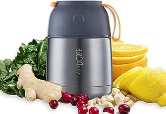 """720°DGREE Thermobehälter Warmhaltebox """"wunderJar"""" - 450ml, 650ml   Premium Edelstahl Isolierbehälter für Speisen"""