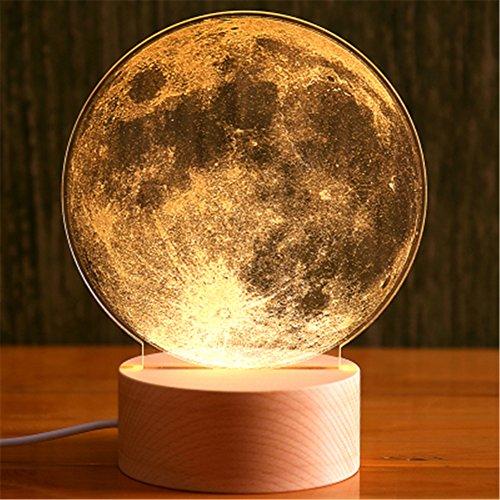 yue-veilleuse Mond Planeten 3D Tischleuchte LED Nachtlicht Kreatives Geschenk Dekoration Haus Modern Mondfarben