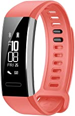 Huawei Band 2 Pro All-in-One Activity Tracker Smart Fitness Wristband | GPS | Multi-Sport Mode| Heart Rate | Sleep Monitor | 5ATM Waterproof, Red