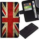 Graphic4You Bandera de Reino Unido Inglaterra Gran Bretaña Union Jack Británica Cuero Carcasa Funda Monedero para Sony Xperia Z3 Compact
