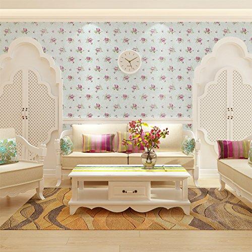Zhzhco Verdickung Pvc Selbstklebend Tapeten Tapeten Pastorale Kinderzimmer Wohnzimmer Hintergrundbild 0,45*10