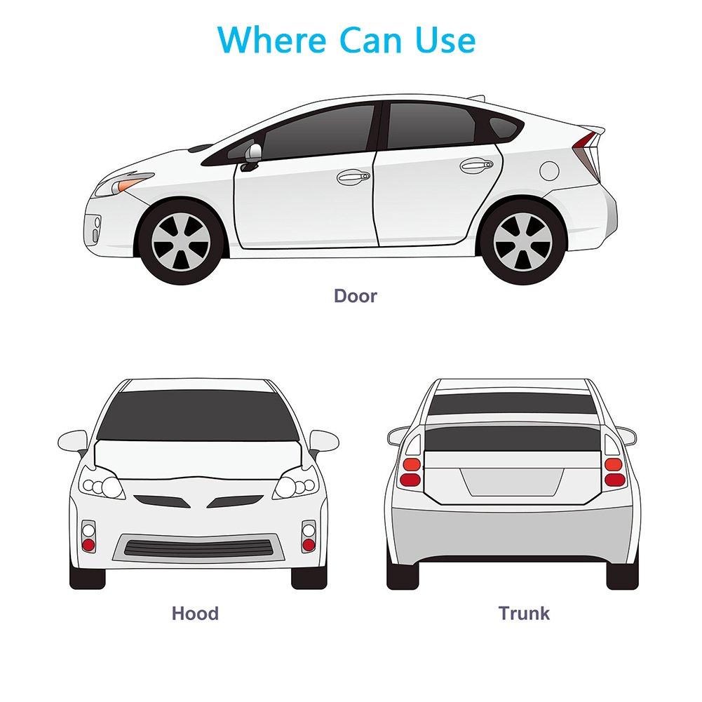Guarnizione Porta Auto ALISTAR Guarnizioni Gomma Proteggi Portiera Auto Universale Accessori Auto in PVC Protezione da Polvere Urti Graffi Striscia Adesiva Accessori Per Auto 10 m Trasparente