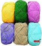 #5: Vardhman Bunny Mix Wool Ball Hand Knitting Yarn / Art Craft Soft Fingering Crochet Hook Yarn, Needle Knitting Yarn Thread Dyed 3Rd...
