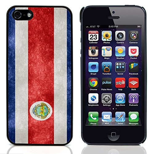 Graphic4You Vintage Uralt Flagge Von Dominikanische Republik Design Harte Hülle Case Tasche Schutzhülle für Apple iPhone 5 und 5S Costa Rica Costaricaner
