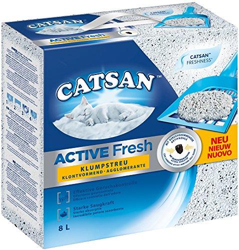 Catsan Katzenstreu Active Fresh, Klumpstreu mit Zusatz von Duftstoffen, natürliche, Weiße...