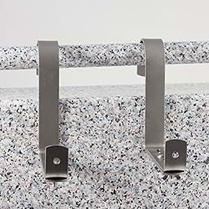 menz blumenkastenhalter aus edelstahl f r rohrgel nder max durchmesser 5 cm f r. Black Bedroom Furniture Sets. Home Design Ideas