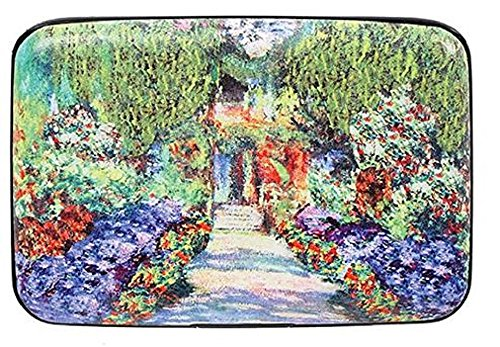 Fig Design Group Monet Garden Walk RFID Secure Data Theft Protection Credit Card Armored Wallet