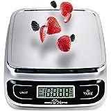Easy@Home Báscula de Cocina Digital 5 kg o 11 lbs - Báscula del alimento con una alta precisión 1g multifunción - Báscula de