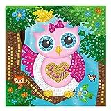 Ursus 8420004 - Moosgummi Mosaikbild, Eule mit Glitter, 434-teilig, bunt