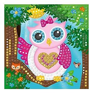 Ursus 8420004-Musgo Goma Mosaico de búho con Glitter, 434Piezas