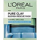 L'Oreal Paris Pure Clay Blemish Rescue Blue Algae Face Mask 50 ml