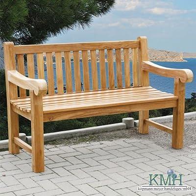 """KMH®, 4-sitzer Gartenbank """"Balmoral"""" - ECHT TEAK! (#102063)"""