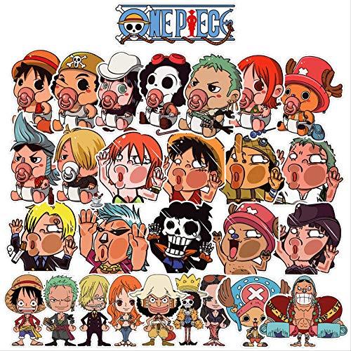 28 Anime One Piece Nautical King Luffy Cartoon Sticker