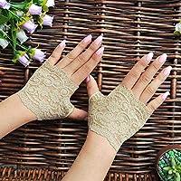 SHOUtao medio dedo guantes de encaje corto femenino lindo guantes de moda cubierta cicatriz tatuaje guantes sin dedos