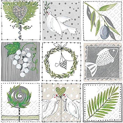 (Karen Garden Bilder 3-lagig bedruckt Papier Serviette Stewo/20pack–33x 33cm)