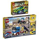 Lego Creator 2er Set 31074 31085 Raketen-Rallyeflitzer + Stunt-Truck-Transporter