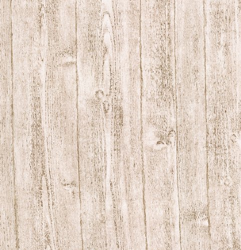 Brewster 412-56909 20.5-Inch by 396-Inch Raised wood - Textured Depth Wallpaper, White by Brewster -