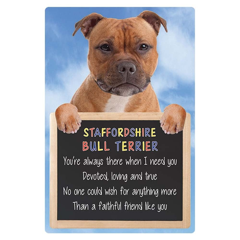 STAFFORDSHIRE BULL TERRIER 3D SIGN