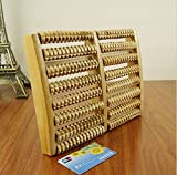 Dealglad® - Rullo massaggiatore piede a 2 elementi, antistress, in legno, con 8 file