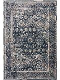 Benuta Teppich Yara Blau 120x170 cm - Vintage Teppich im Used-Look