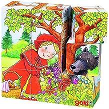 Goki - Puzle de cubos con cuentos, 9 piezas de madera (57542.0)