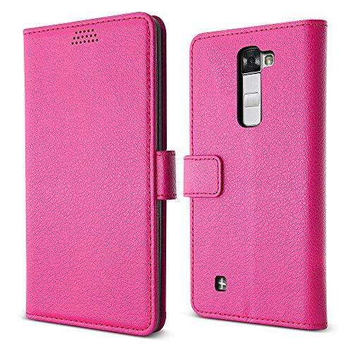 Mobile Lg Virgin (LG Stylus 2 V Fall / LG Stylo 2 Fall, BELK Soft PU Leder Schlag-Mappen-Kasten mit haltbarer TPU Rückseite für LG Stylo 2 V VS835, LS775 (Sprint, Virgin Mobile, Boost Mobile, Cricket, LTE) - Rose)