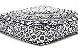 Exclusive indischen quadratisch Urban Elefanten Mandala Design Waschtisch Kissen Bezug osmanischen Pouf Kissen Fall Hippie Meditation Überwurf Outdoor Bett-Hunde/Haustiere Bett von bhagyoday Fashions