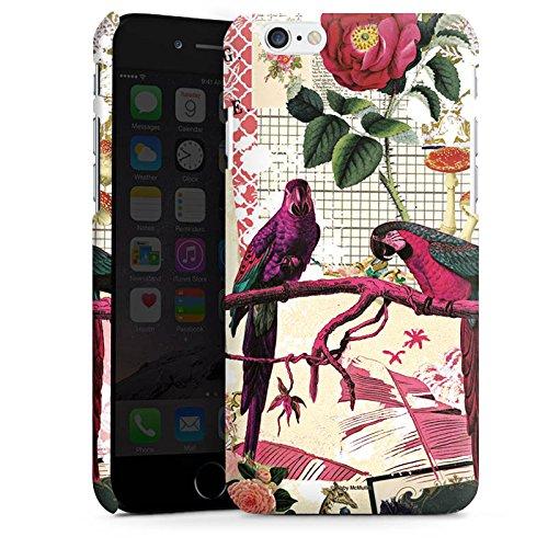 Apple iPhone X Silikon Hülle Case Schutzhülle Papagei Muster Collage Premium Case matt