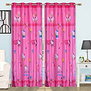 Biaba Collection Home Deccor Durable& Brand New Kids Collection Digital Printed 2 Piece Polyester Curtain Plain Eyelet Door Curtains Set Of 2 Pc 9x4 Ft , Multicolor(Pack Of 2)