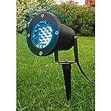 Lumihome RGB/GL28 Spot Piquet Extérieur 28 LED IP89 + Télécommande Rf Noir
