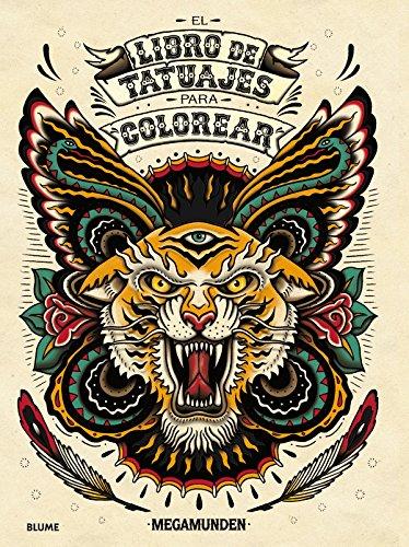 El libro de tatuajes para colorear por Megamunden