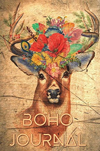 Boho Journal: 140 Lined Pages Softcover Notes Diary, Creative Writing, Class Notes, Composition Notebook - Boho Deer Head por Simple Planners and Journals