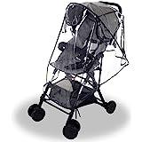 Wemk Regnskydd, Transparent Regnskydd till Barnvagn, Barnvagnsskydd, säkert EVA-Material, med 3 Ventilationsfönster (Medelsto