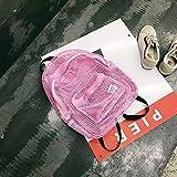 YZBB Koreanische Version von Harajuku Ulzzang High School Student Rucksack Straße klopfte Hong Kong Style Tennis Tasche Einfache Retro Umhängetasche, Pink