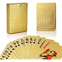 joyoldelf Premium Spielkarten Pokerkarten Skatkarten,mit 24K Poker,aufwendig Aussehen - Hoch Qualität für Ihr Poker Vergnügen