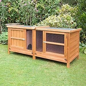 External XL 6ft Chartwell Rabbit Hutch Home