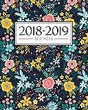 Agenda 2018-2019: 19x23cm : Agenda 2018 2019 semainier : Motif floral 3407