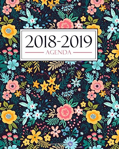 Agenda 2018-2019: 19x23cm : Agenda 2018 2019 semainier : Motif floral 3407 par Papeterie Bleu