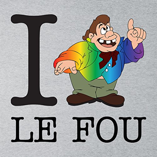 I Heart Le Fou Beauty And The Beast Men's Vest Heather Grey