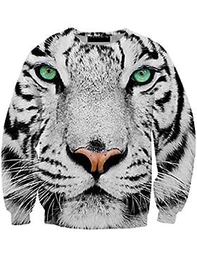 3d stampata graziosi animali felpe Casual Leisure Street Style Abbigliamento Tops