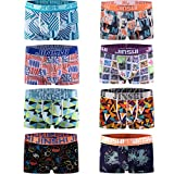 8er Pack, JINSHI Herren Trunks Komfortable Unterhose , Multi-04, EU-L=CN-XL