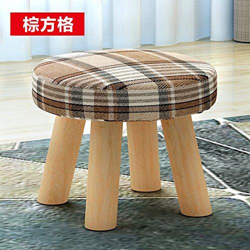 Dana Carrie Les petits bancs en bois basse, tissus canapé adultes est un simple cercle créatif Accueil tabourets bas, Boîte marron