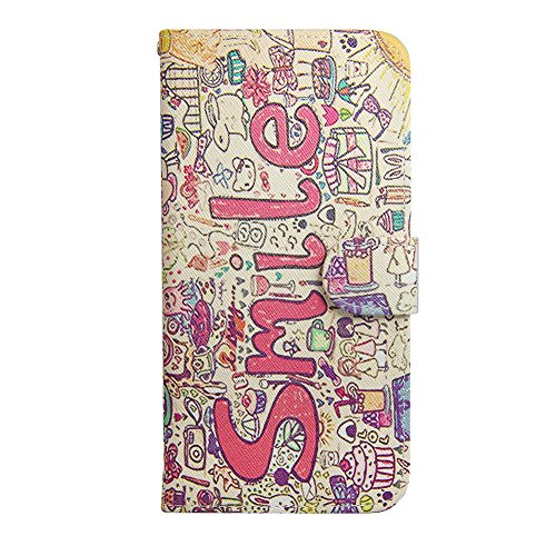 Ancerson Multi-Colored PU Pelle Patta Borsa Custodia Protettiva per Apple Iphone 6 4.7 pollici inch In Pittura ad Olio Stil Colorful Painting Flip Case Custodia in pelle sintetica custodia cover con f sorriso