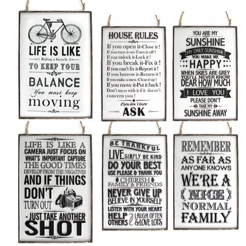GLASS METAL FRAME PLAQUE QUOTE HOME HANGING MESSAGE GIFT ROPE PRESENT  OFFICE NEW (BE THANKFUL): Amazon.co.uk: Kitchen U0026 Home