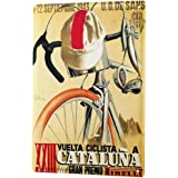 Tôle Bouclier Nostalgie course cycliste Catalunia 1951