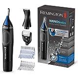 Remington Nano Lithium Series NE3870 Cortapelos Nariz, Orejas, Cejas y Vello Facial, Resistente al Agua, Negro y Azul