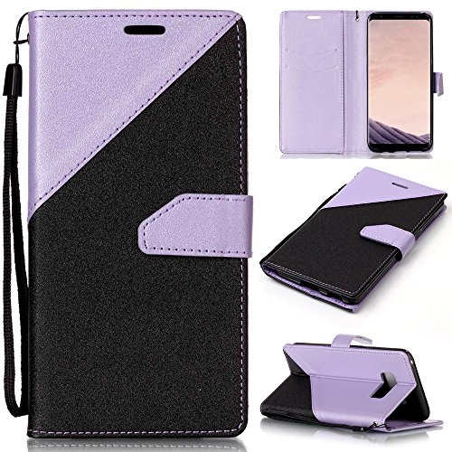 Ooboom Huawei Mate 10 Lite Hülle Handy Tasche Flip Cover PU Leder Brieftasche Case Stand mit Kartenfach Magnetverschluss - Lavendel Schwarz