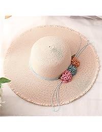Fashion cap Sombrero de la Muchacha de la Señora del Verano Sombrero  Grandes de la Playa del Sol Sombrero Casuales de la Playa del Sol… 0336cc87631